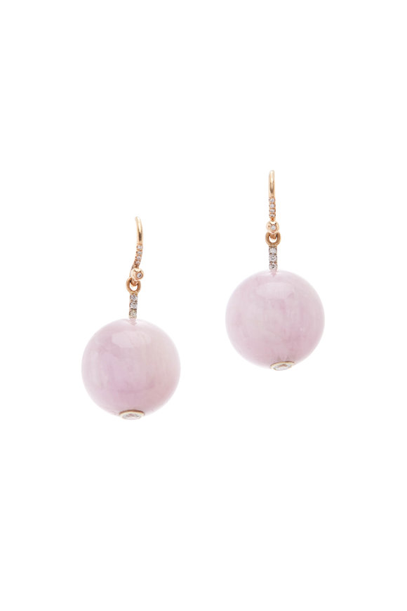 Irene Neuwirth 18K Rose Gold Kunzite Sphere Earrings