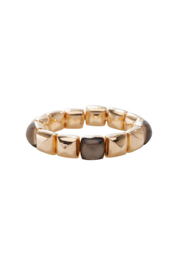 Vhernier 18K Rose Gold Smoky Quartz Cuff
