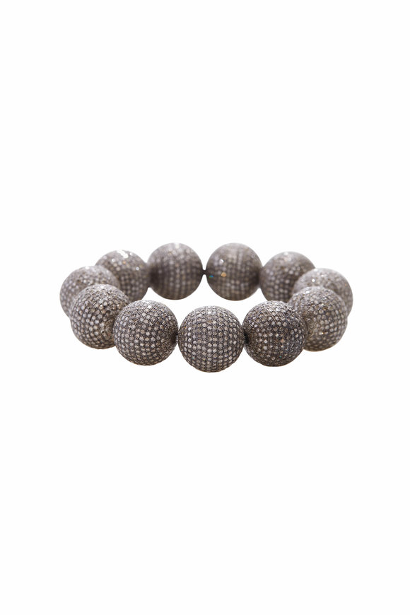 Loren Jewels Diamond Ball Stretch Bracelet