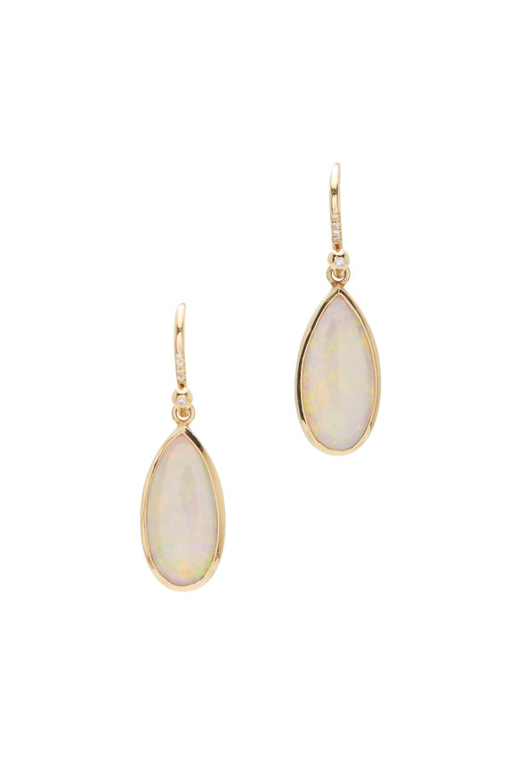 Irene Neuwirth 18K Yellow Gold One Of A Kind Opal Drop Earrings