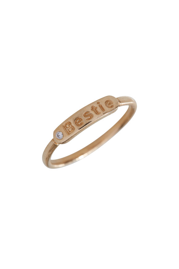 My Story Jewel 14K Yellow Gold Bestie Single Diamond Ring