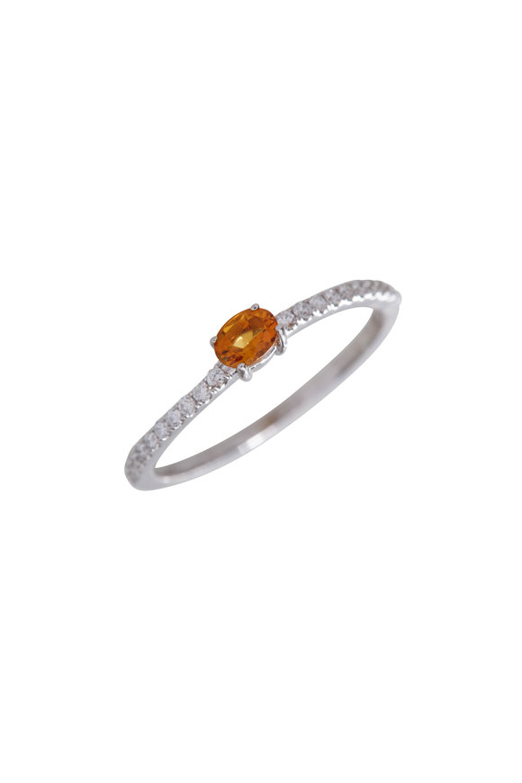 My Story Jewel 14K White Gold Diamond & Citrine Ring