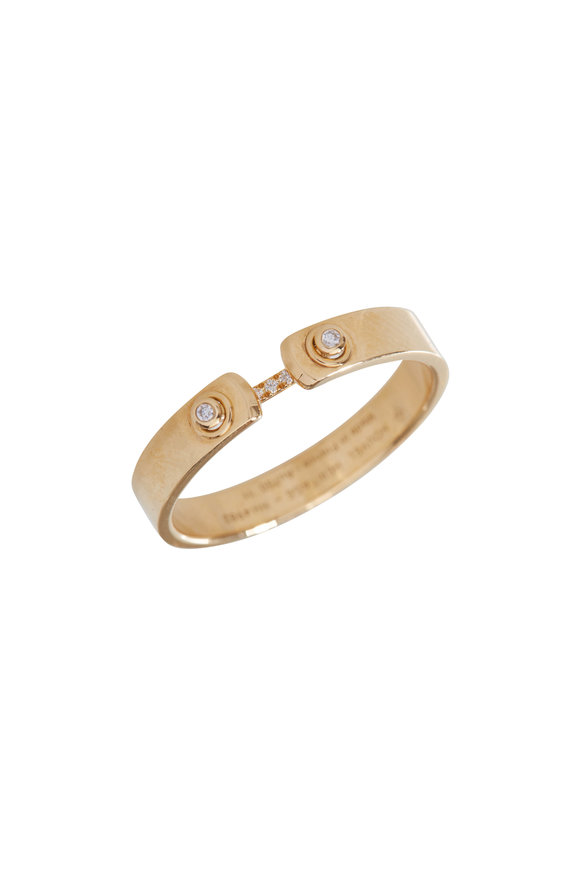 Nouvel Heritage 18K Yellow Gold Business Meeting Mood Ring