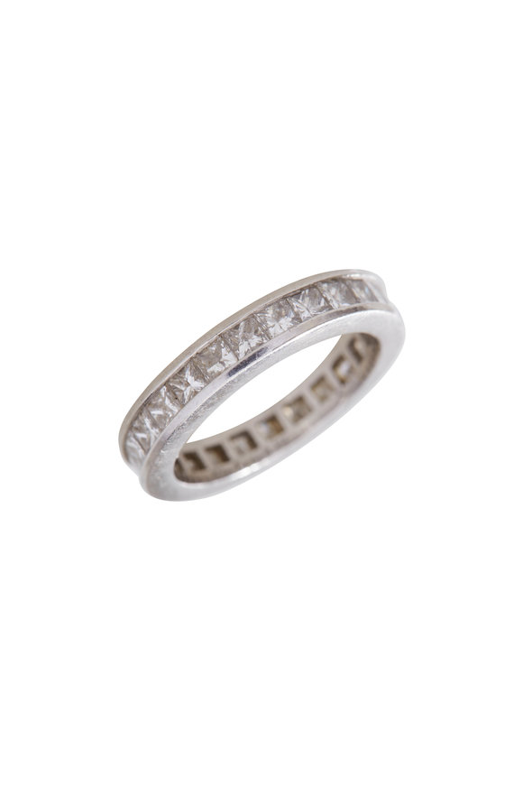 Precious Platinum Diamond Guard Ring