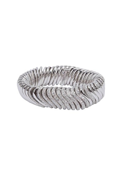 Mattia Cielo - White Gold Solid Oceano Diamond Bracelet