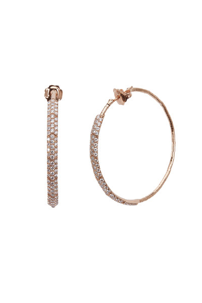 Mattia Cielo - 18K Rose Gold Diamond Hoops