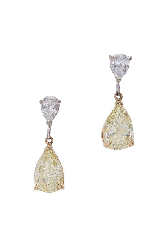 Lowy & Co Fancy Light Yellow Drop Earrings