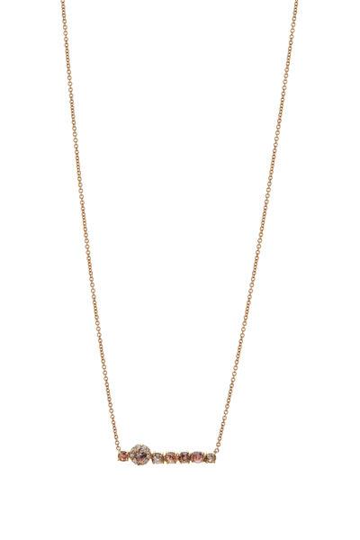 Kimberly McDonald - 18K Yellow Gold Irregular Diamond Bar Necklace