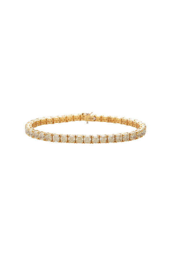 Lowy & Co Fancy Light Yellow & Platinum Diamond Bracelet