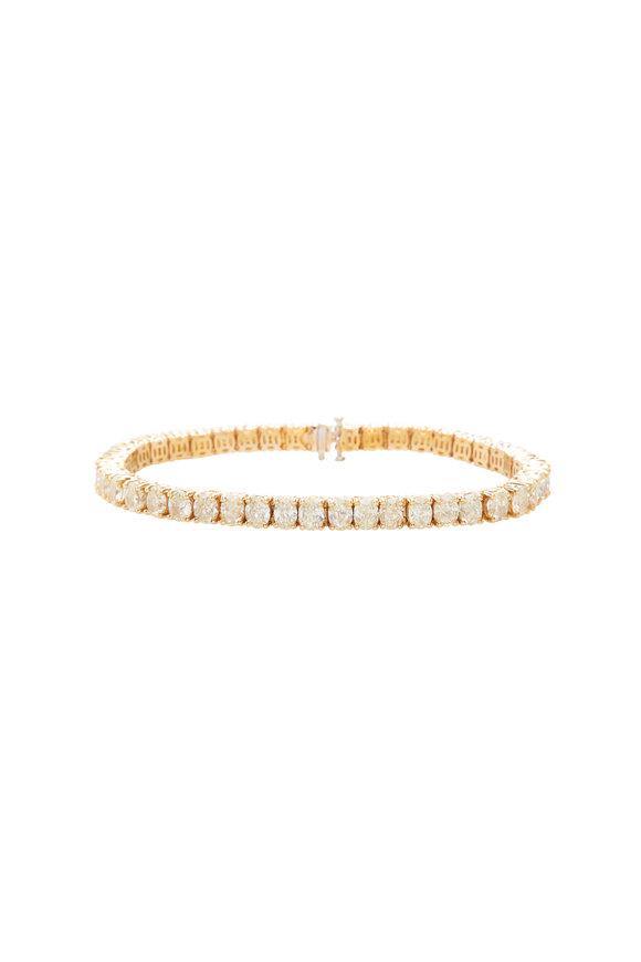 Lowy & Co Fancy Light Yellow Oval Diamond Bracelet