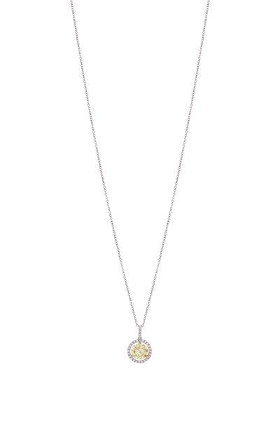Lowy & Co - Yellow Diamond Pendant Necklace