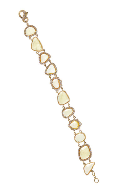Kimberly McDonald - Yellow Sapphire & Irregular Diamond Bracelet