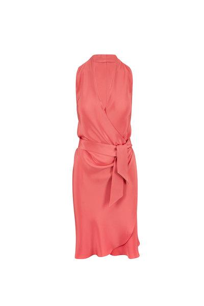 Peter Cohen - Yard Pamplemouse Silk Sleeveless Dress