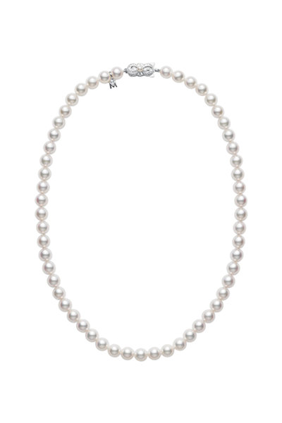 Mikimoto - White Gold Pearl Necklace