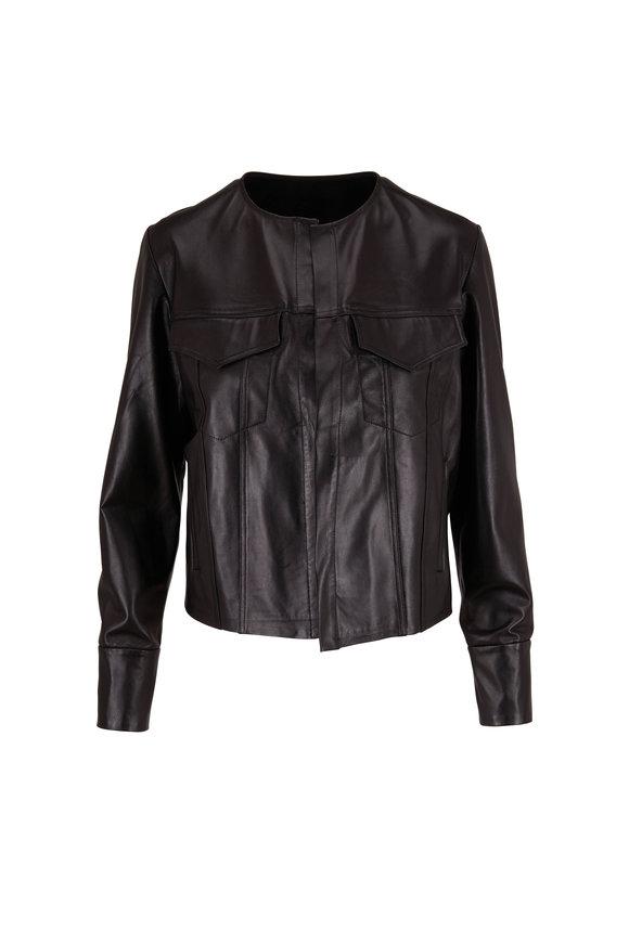 Peter Cohen Black Leather West Jacket