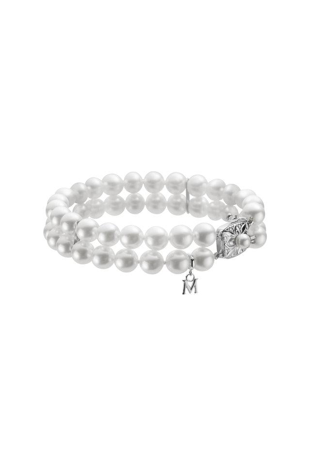 White Gold Pearl Diamond Bracelet