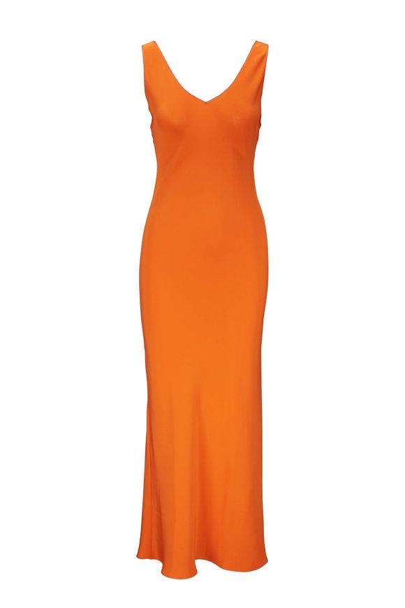 Peter Cohen Orange Low Back Dress