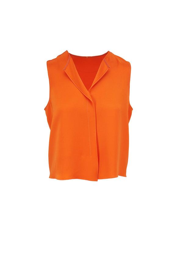 Peter Cohen Orange Silk Ethnic Top