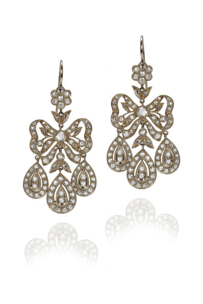 Nam Cho - Rose Cut Diamond Earrings