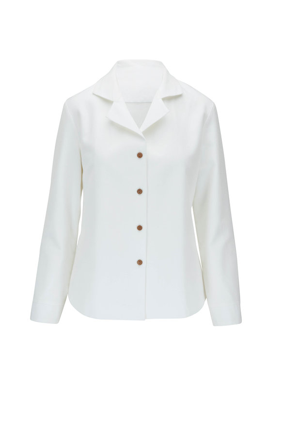 Peter Cohen Argot White Button Down Blouse