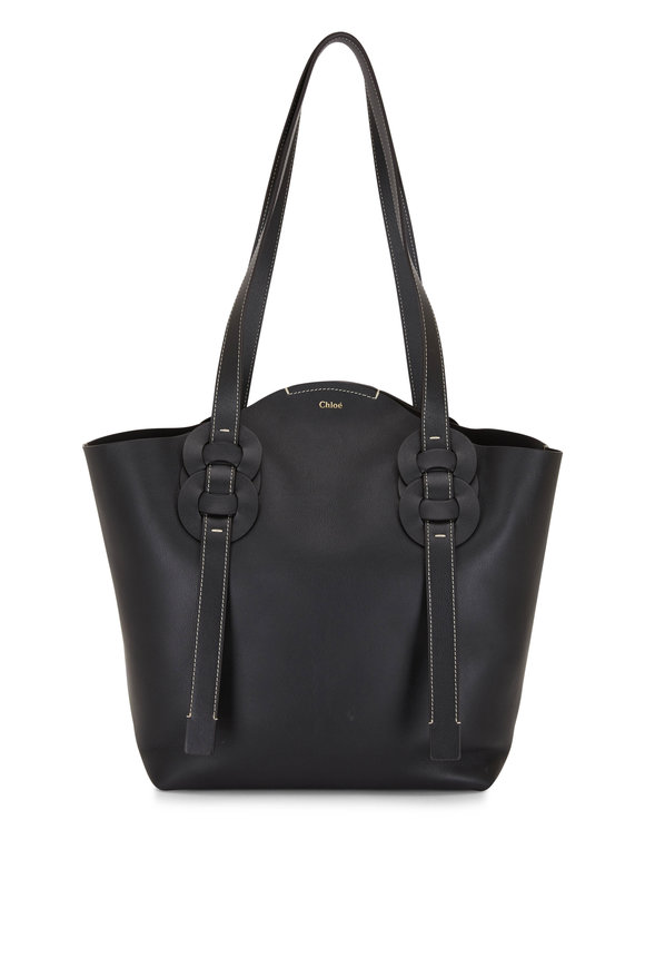 Chloé Darryl Black Leather Large Tote Bag