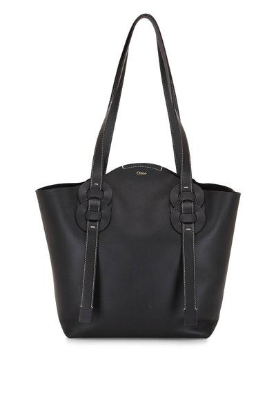 Chloé - Darryl Black Leather Large Tote Bag