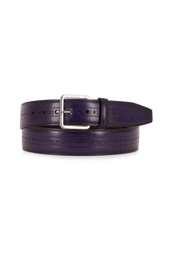 Berluti Utopia Blue Leather Belt