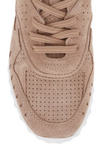 Tod's - Fondo Sportivo Tan Perforated Suede Sneaker