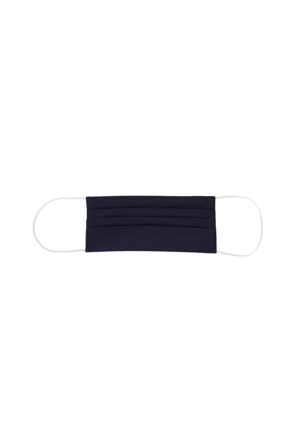 Made by Hand Navy Solid Poplin Mask