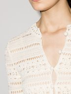 Saint Laurent - Jane Off White Crochet Mini Dress