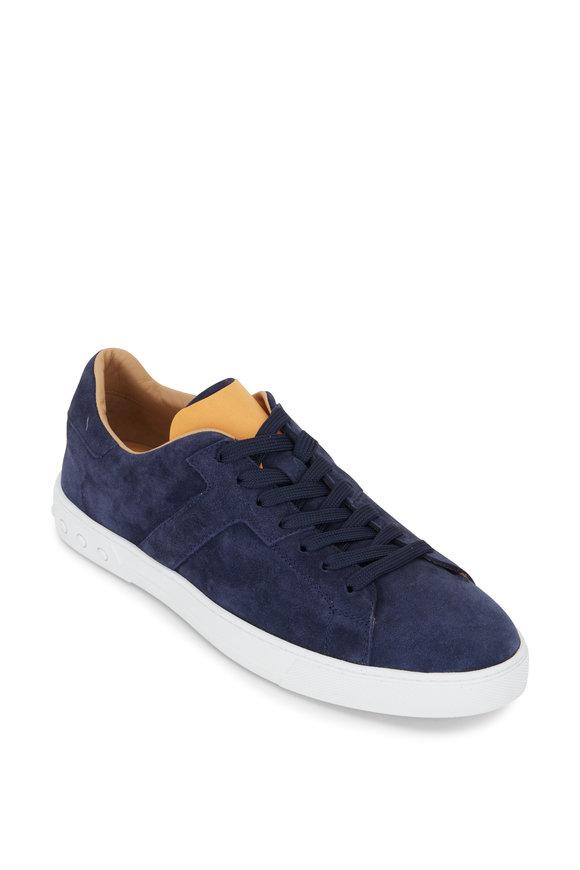 Tod's Cassetta Navy Suede Sneaker