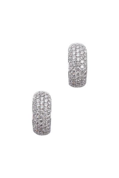 Kwiat - Moonlight White Gold White Diamond Huggie Earrings