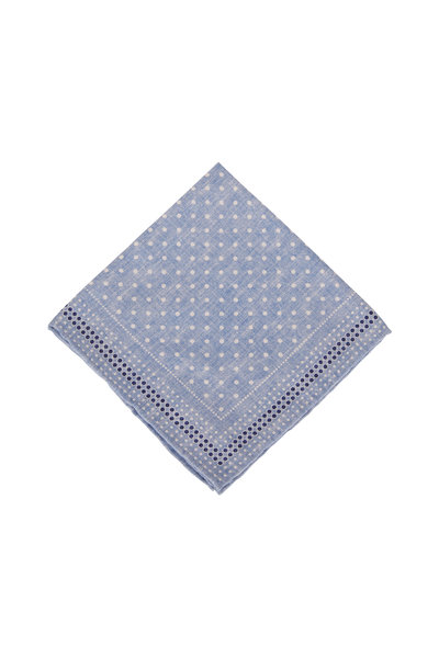 Brunello Cucinelli - Light Blue Silk Pocket Square