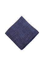 Brunello Cucinelli - Navy & Brown Geometric Silk Pocket Square