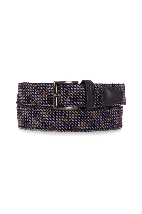 Anderson's Brown & Blue Textured Woven Belt