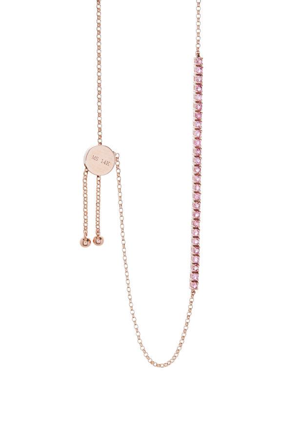 My Story Jewel 14K Rose Gold Pink Tourmaline Bracelet