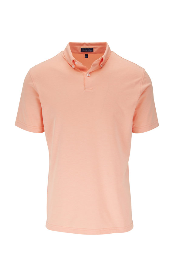 Peter Millar Ace Orange Piqué Cotton Polo