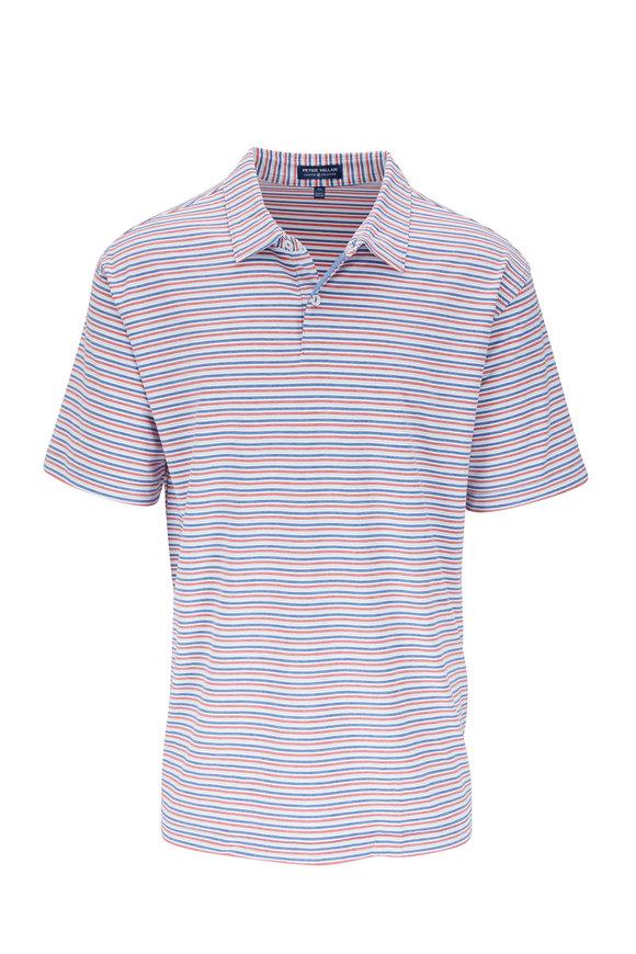 Peter Millar Soul Pink & Blue Striped Polo