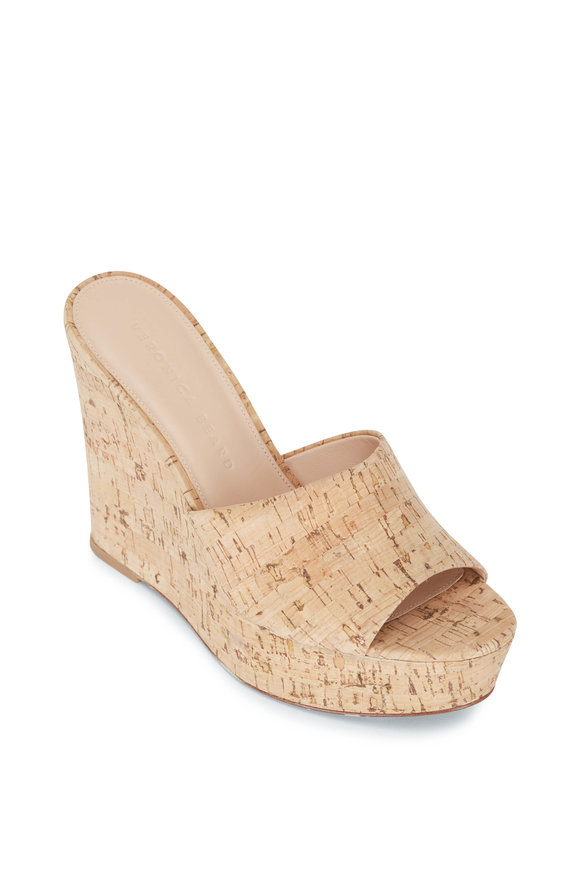 Veronica Beard Dali Natural Cork Slip-On Wedge