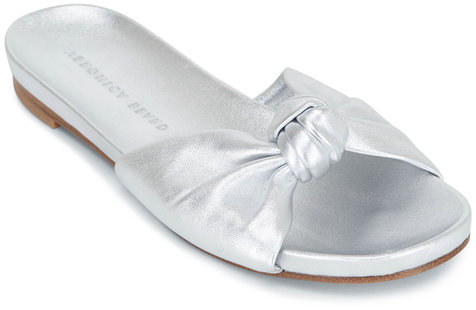 Veronica Beard Etra Metallic Silver Knot Slide