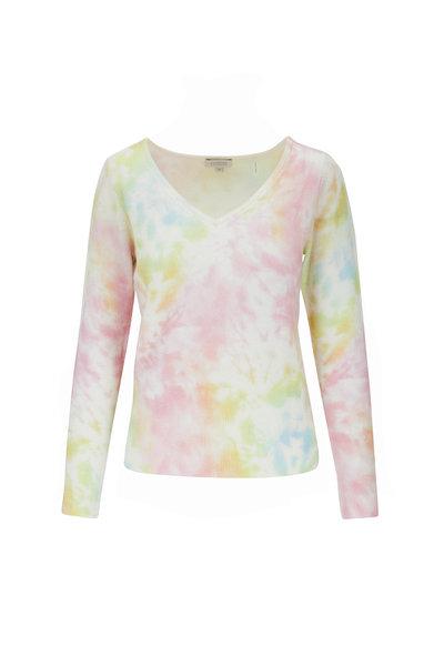 Kinross - Multicolor Splash Print Cashmere Sweater