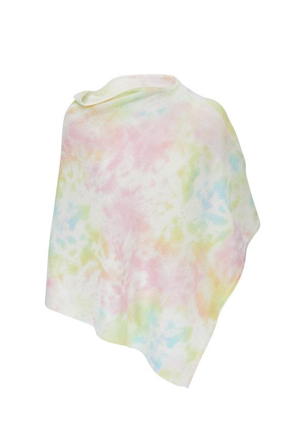 Kinross Multicolor Splash Print Poncho