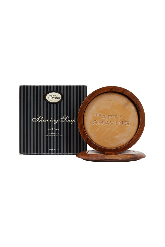 Unscented Shaving Soap & Wood Bowl