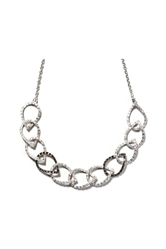 Windsor Jewelers Alex Ball White & Black Diamond Necklace