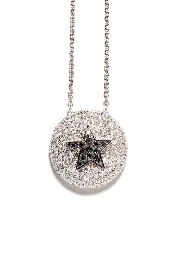 Windsor Jewelers 18K Gold Black Diamond Star Pendant Necklace