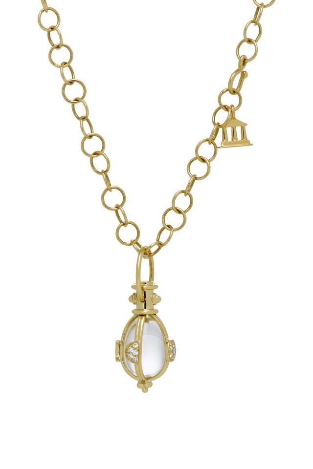 Diamond Luna Crystal Amulet