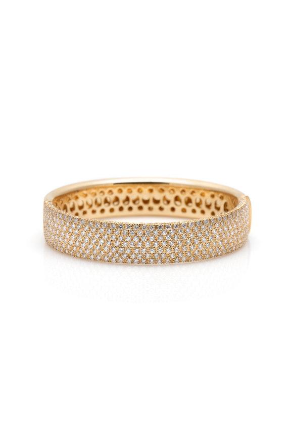 Windsor Jewelers 18K Yellow Gold Hans D Krieger Diamond Bangle