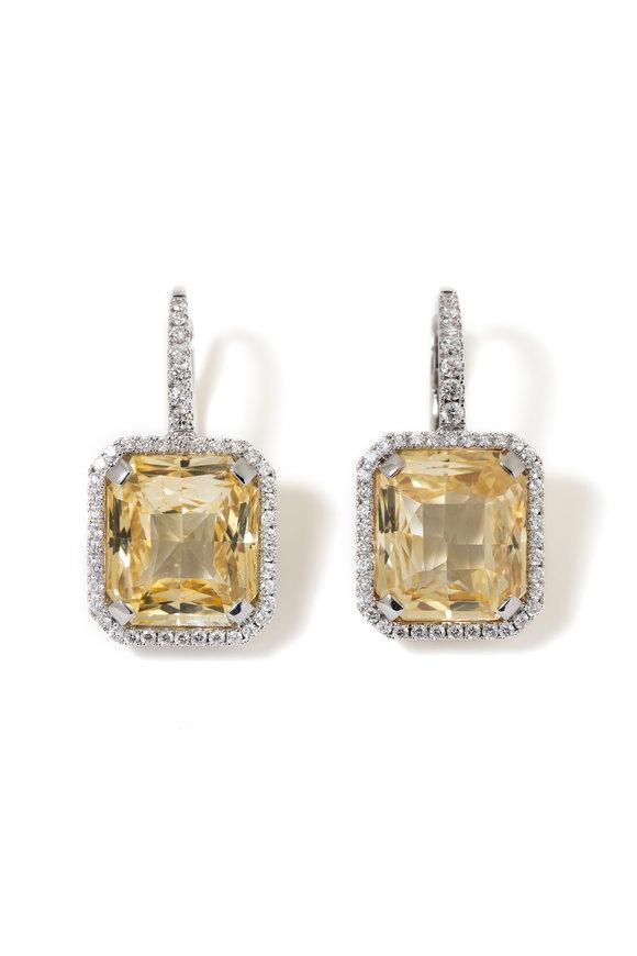 Windsor Jewelers Salavetti Diamond & Yellow Sapphire Earrings