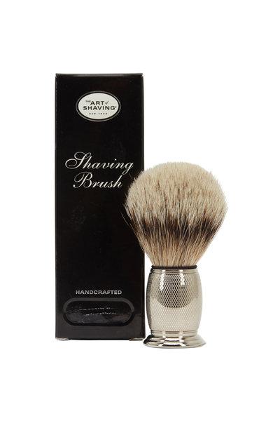 The Art of Shaving - Nickel Engraved Shaving Brush