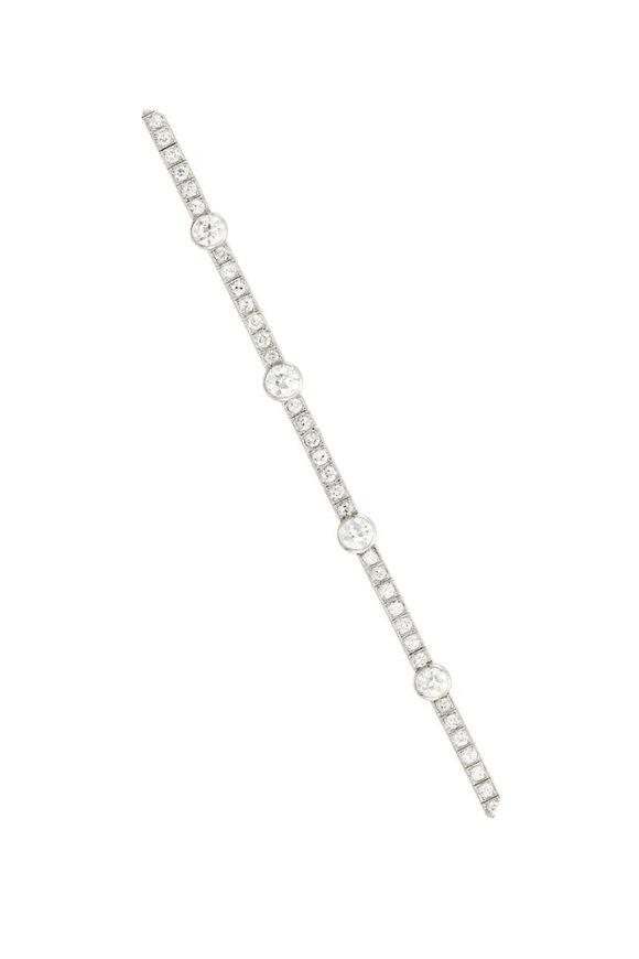 Windsor Jewelers Cartier Platinum Diamond Bracelet